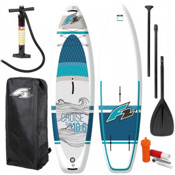 "F2 SUP Cruise Windsurf 11,6"" + Paddel + Bag + Pumpe"