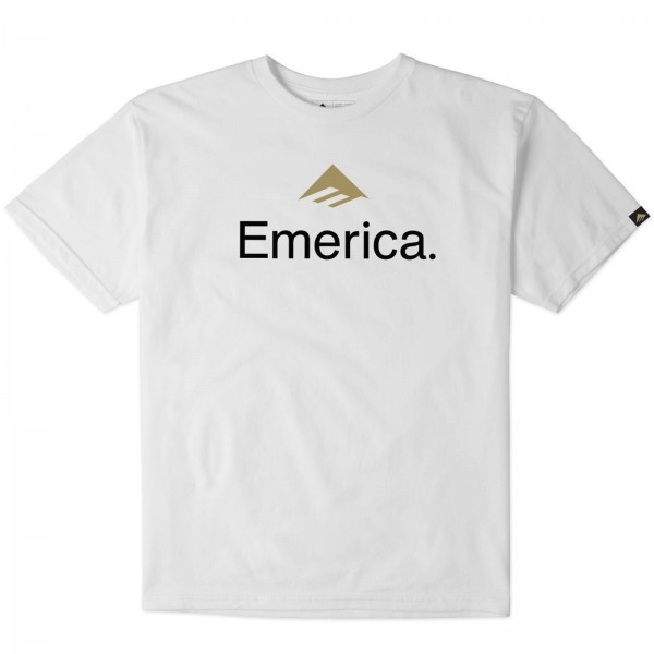EMERICA SKATEBOARD LOGO 2018 WHITE ~ HERREN T-SHIRT SHIRT COTTON