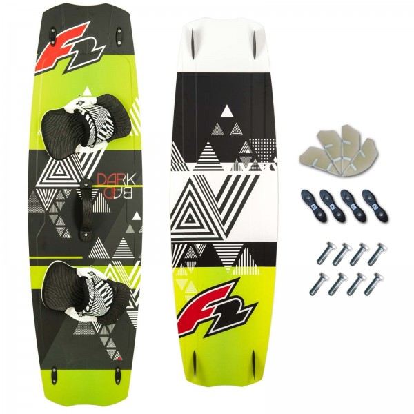 F2 KITEBOARD 2018 ~ F2 DARK BAD + F2 PADSET + FINNEN + HANDLE