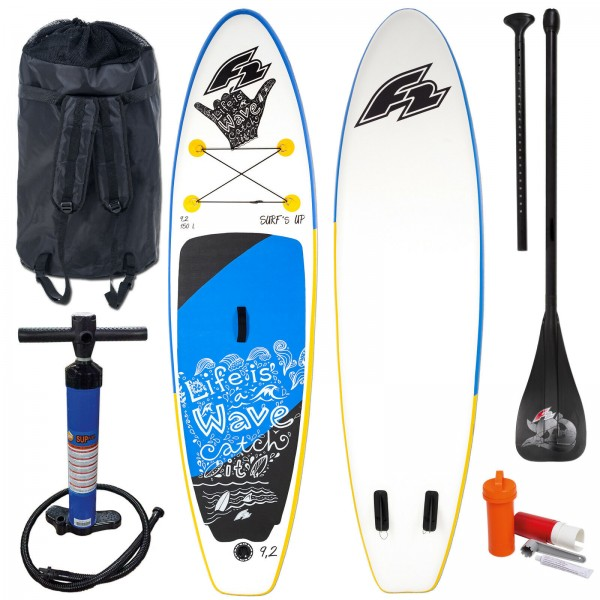 "F2 SUP SURF´S UP KIDS 9,2"" 2020 KINDER STAND UP PADDLE KOMPLETT - TESTBOARD"