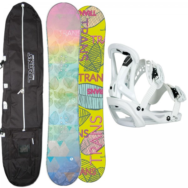 DAMEN SNOWBOARD SET TRANS FR 2020 + FTWO SONIC BINDUNG GR. M + BAG