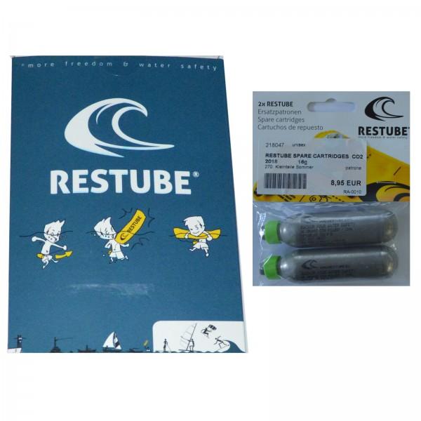 RESTUBE BASIC MARINE BLUE ~ RETTUNGSBOJE SUP SICHERHEITSSYSTEM + ERSATZPATRONEN