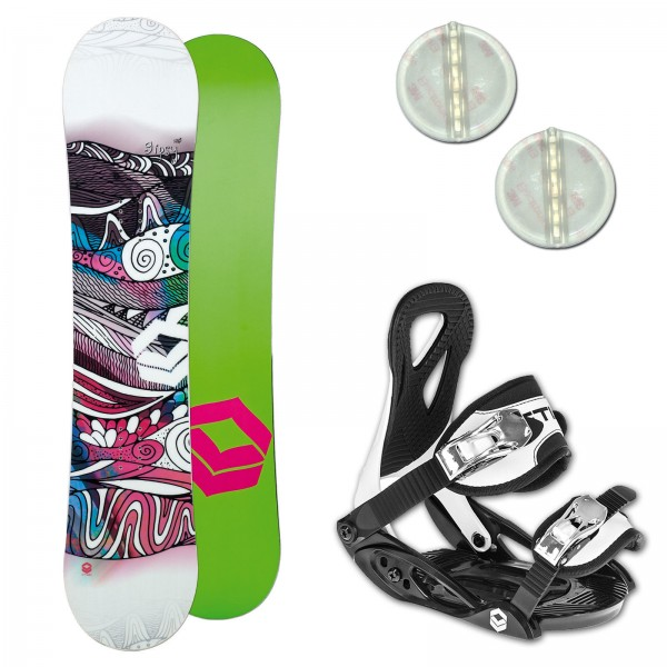 FTWO GIPSY KINDER SNOWBOARD SET + ELFGEN JUNIOR BINDUNG + PAD