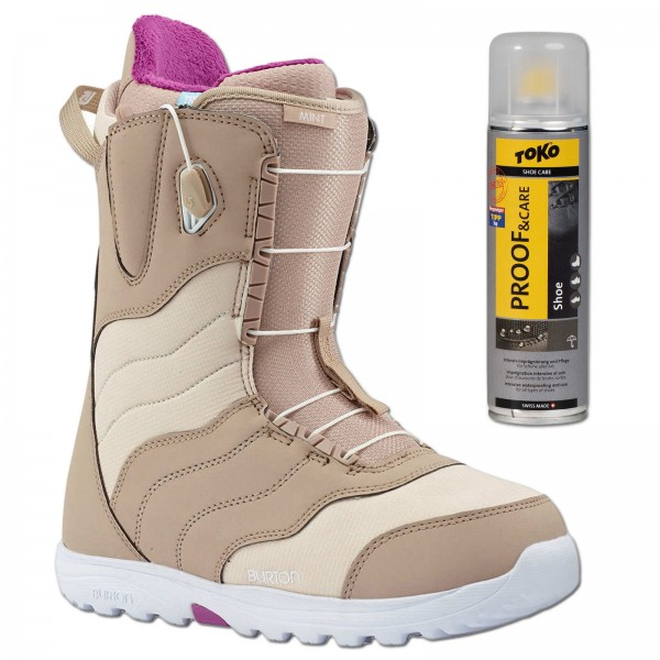 BURTON MINT TAN 2018 ~ DAMEN SNOWBOARD SCHUHE SOFTBOOTS + SPRAY