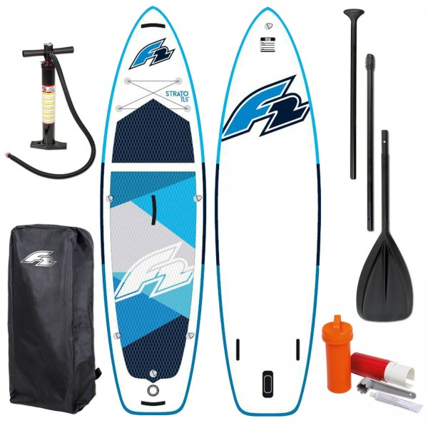 F2 STRATO SUP BLUE 2021 STAND UP PADDLE BOARD + PADDEL + BAG + PUMPE