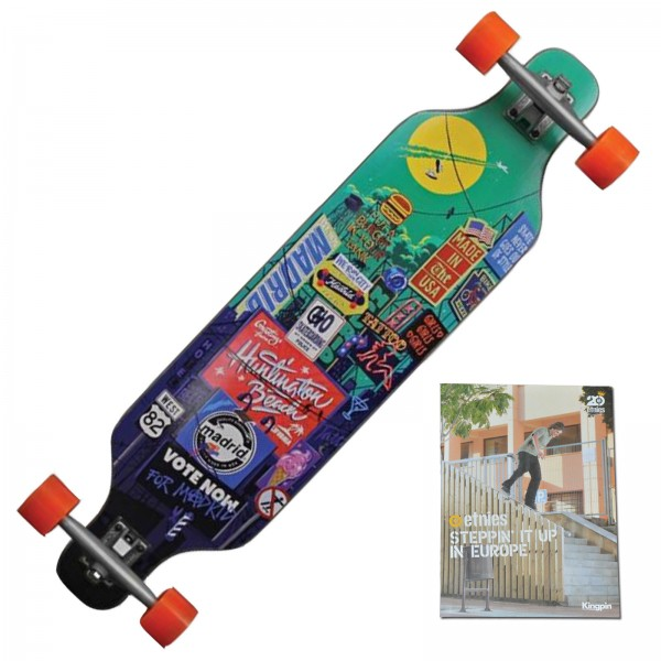 MADRID BILLBOARD LONGBOARD SKATEBOARD + SKATE DVD