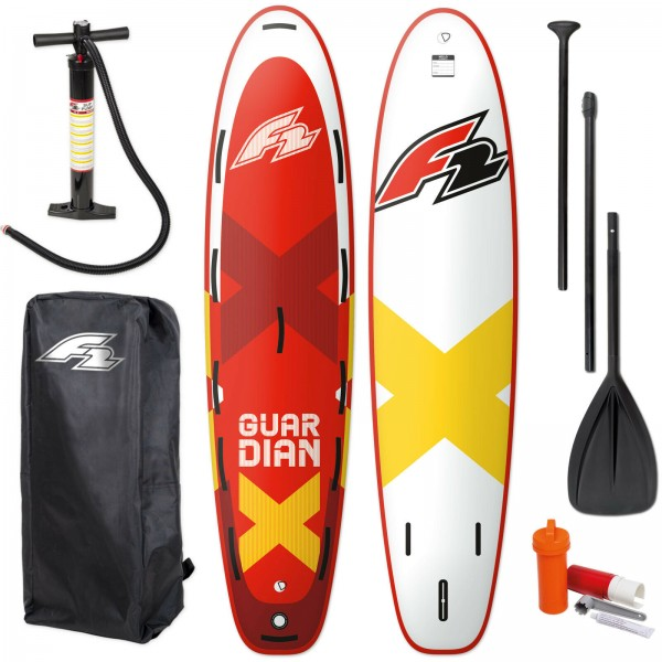 """F2 GUARDIAN SUP 10,8"""" 2021 STAND UP PADDLE BOARD + PADDEL + BAG + PUMPE"""