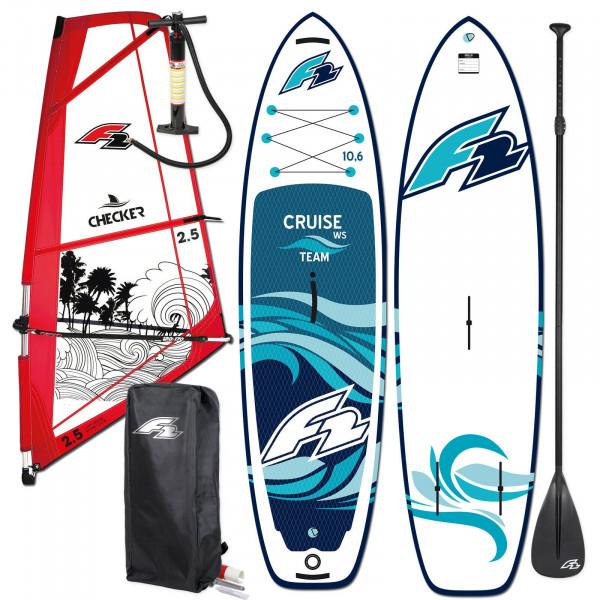 F2 SUP Cruise Team Windsurf HFT 11,6' + F2 Checker Rigg
