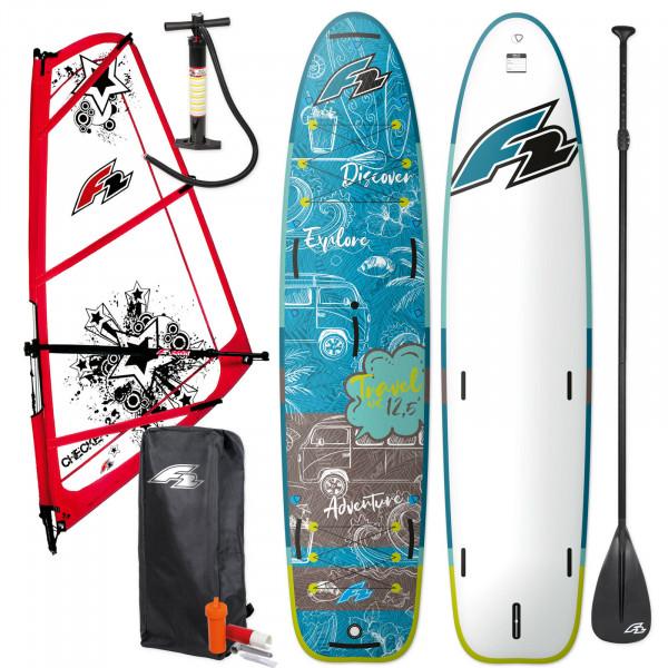 F2 SUP Travel Windsurf 12,5' + F2 Checker Rigg