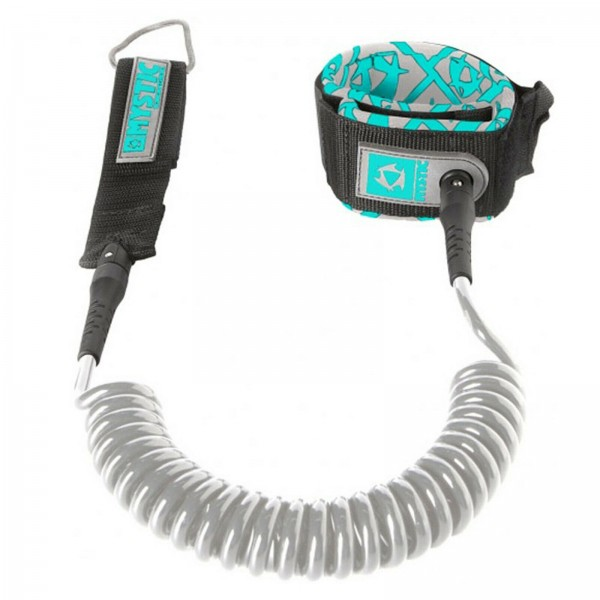 MYSTIC SUP COILED LEASH GREY 2019 ~ STAND UP PADDLING