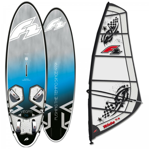 F2 RIDE SOFTDECK WINDSURF-BOARD + F2 RIDE RIGG