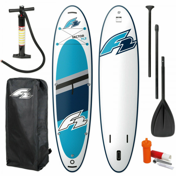 F2 SECTOR SUP BLUE 2021 STAND UP PADDLE BOARD + PADDEL + BAG + PUMPE