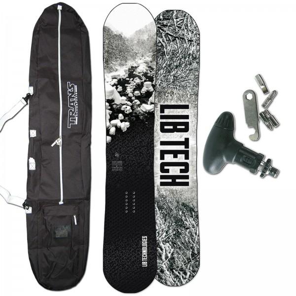 LIB TECH FREESTYLE SNOWBOARD COLD BREW C2 2020 + BAG + TOOL