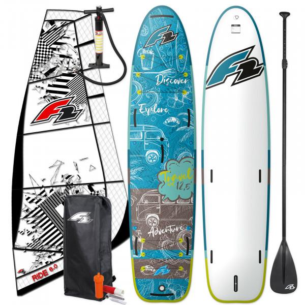 F2 SUP Travel Windsurf 12,5' + F2 Ride Rigg