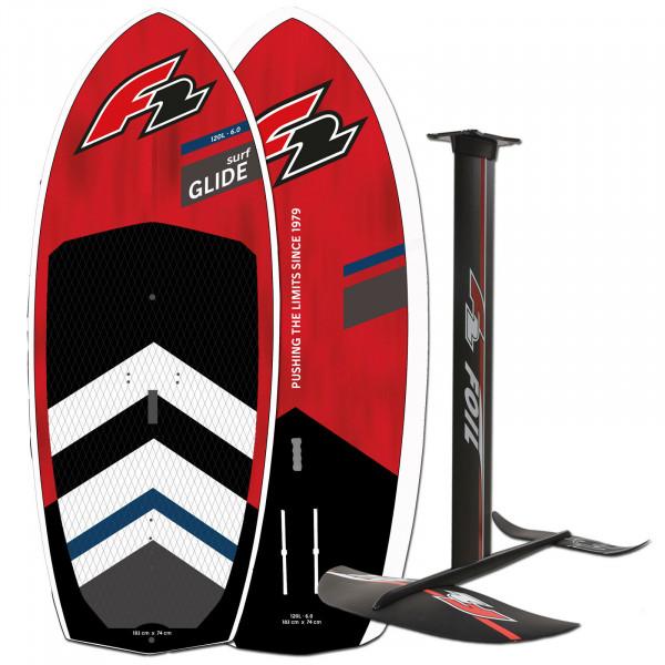 F2 GLIDE SURF HARDBOARD 2022 ~ WINGSURF FOIL BOARD 90 LITER + FOIL SET
