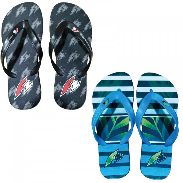 F2 BEACHSLIPPER BLACK/BLUE
