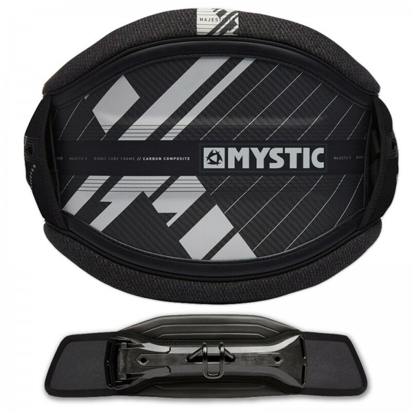 MYSTIC MAJESTIC X HERREN HÜFT KITE TRAPEZ BLACK + STEALTH BAR KITE