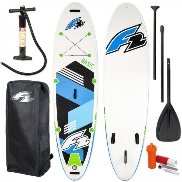 """F2 SUP BASIC GREEN 10,0"""" 2020 STAND UP PADDLE BOARD -> TESTBOARD"""