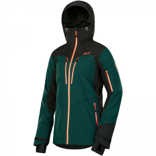 PICTURE TICKET EMERALD 2019 ~ DAMEN SKI & SNOWBOARD-JACKE