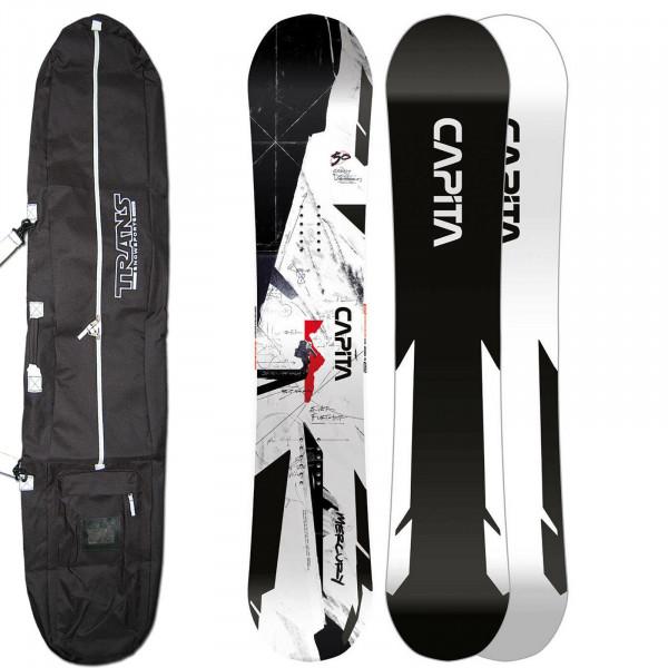 Capita Mercury + BAG ~ Herren All Mountain Snowboard - 158 cm Wide