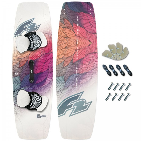 F2 DAMEN KITEBOARD 2019 ~ BLOOM + F2 PADSET + FINNEN + HANDLE