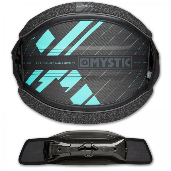 MYSTIC MAJESTIC X HERREN HÜFT KITE TRAPEZ MINT + STEALTH BAR SURF
