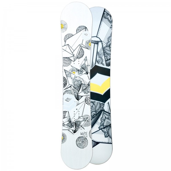 FTWO DAMEN FREESTYLE SNOWBOARD WHITEDECK WOOD 2018 ~ CAMBER