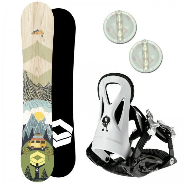 FTWO T-RIDE KINDER SNOWBOARD SET 2020 + FTWO JUNIOR BINDUNG GR. S + PAD