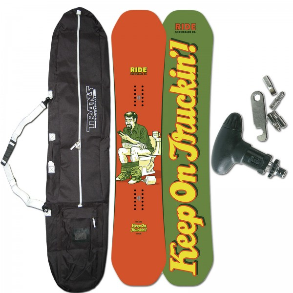 RIDE HERREN FREESTYLE SNOWBOARD KINK ~ 147 CM + BAG + TOOL