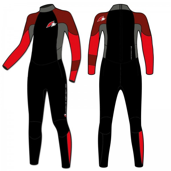 F2 REBEL FULLSUIT 4/3 DL BACKZIP HERREN NEOPRENANZUG 2019