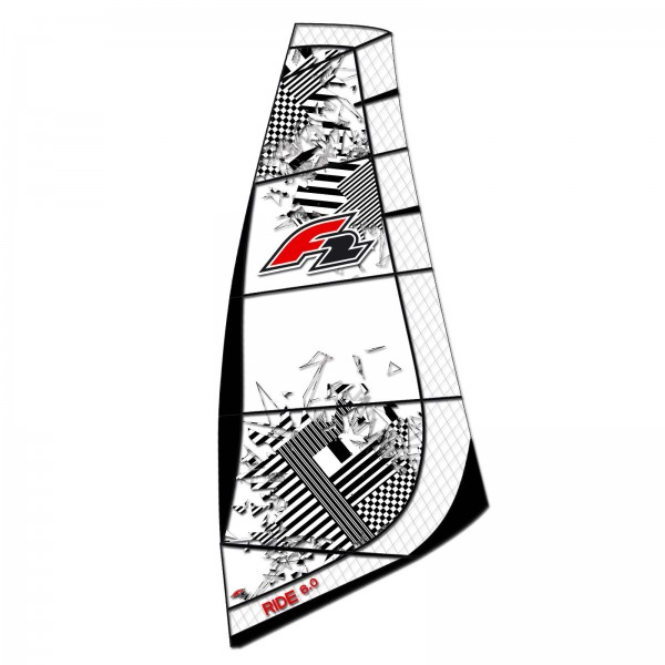 WINDSURF SEGEL KOMPLETT RIGG ~ F2 RIDE INKLUSIVE BAG