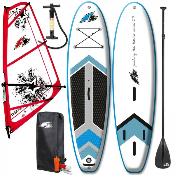 "F2 TEAM WINDSURF INFLATABLE SUP SET 10,5"" KOMPLETT + F2 CHECKER RIGG"