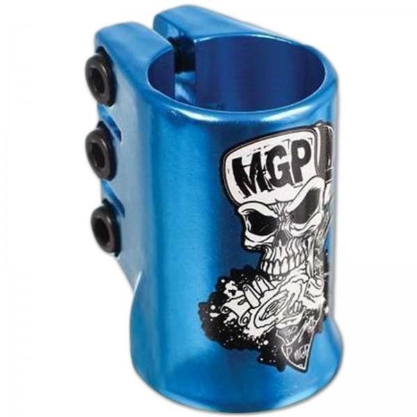 MGP MADD GEAR OVERSIZED TRIPLE CLAMP HATTER BLUE ~ SCOOTER KLEMME SCHELLE TEAM