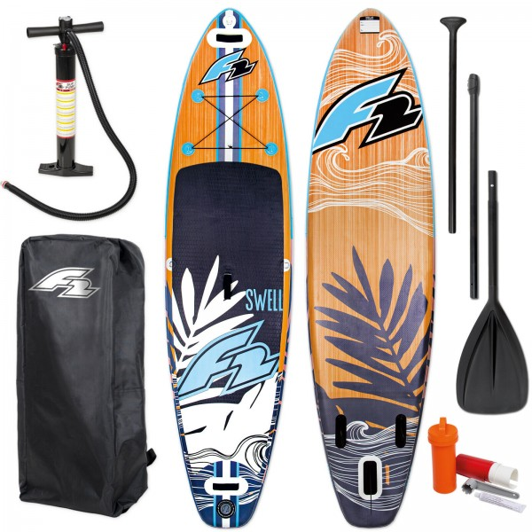 F2 SUP SWELL 2020 STAND UP PADDLE BOARD AUFBLASBAR + PADDEL + BAG + PUMPE