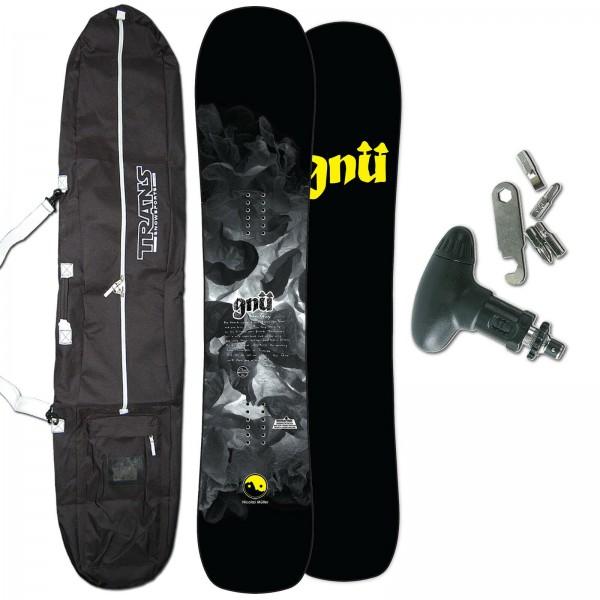 GNU FREESTYLE HERREN SNOWBOARD FUN GUY C3 2020 + BAG + TOOL
