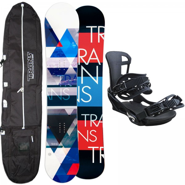 HERREN SNOWBOARD SET TRANS FE 2021 + ELFGEN TEAM BINDUNG GR. L + BAG