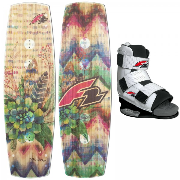 F2 WAKEBOARD RAINBOW + F2 TEAM WAKE BINDUNG