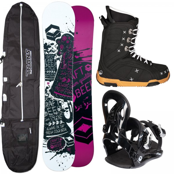 DAMEN SNOWBOARD SET FTWO TNT + FASTEC BINDUNG + BOOTS + BAG