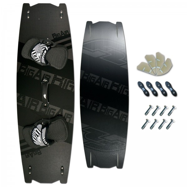 CROSSOVER CARBON KITEBOARD ~ F2 BIG AIR + PADSET + FINNEN