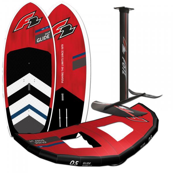 F2 GLIDE SURF 2022 HARD WING FOIL BOARD 90 LITER + FOILSET + WING 5QM