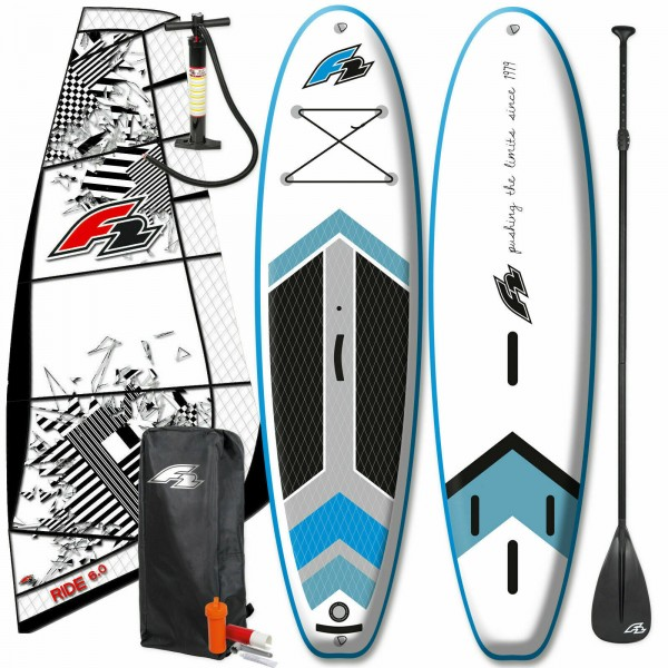 F2 TEAM WINDSURF INFLATABLE SUP SET KOMPLETT + F2 RIDE RIGG
