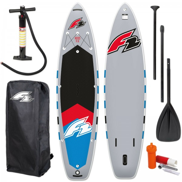 F2 SUP AXXIS 2021 STAND UP PADDLE BOARD GREY + PADDEL + BAG + PUMPE