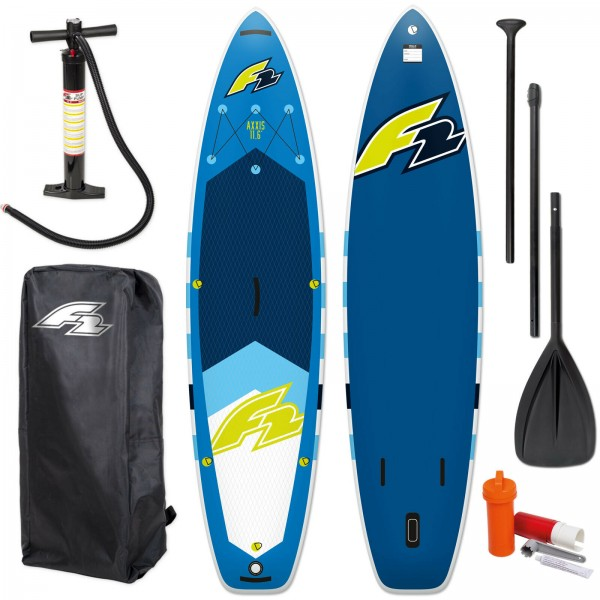 "F2 SUP AXXIS 11,6"" 2021 STAND UP PADDLE BOARD AUFBLASBAR + PADDEL + BAG + PUMPE"