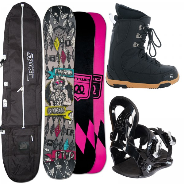 HERREN SNOWBOARD FTWO T-RIDE FRANKONIA + FASTEC BINDUNG + BOOTS