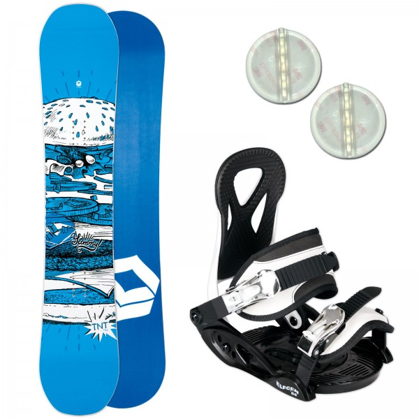 FTWO TNT KINDER SNOWBOARD SET 2019 + ELFGEN JUNIOR BINDUNG + PAD