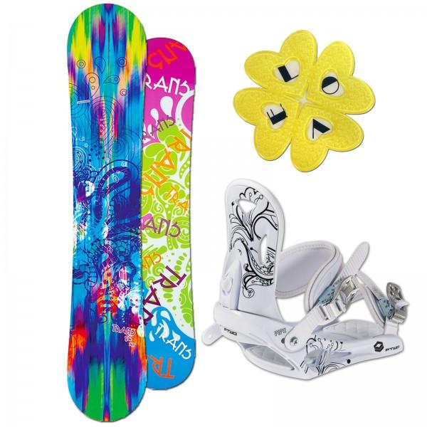 DAMEN SNOWBOARD TRANS FE CAMBER + FTWO PIPE BINDUNG M + PAD