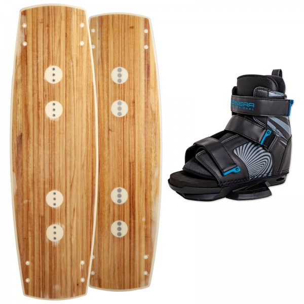 F2 WOODY WAKEBOARD 133 CM 2020 + SPINERA PROFESSIONAL BINDUNG