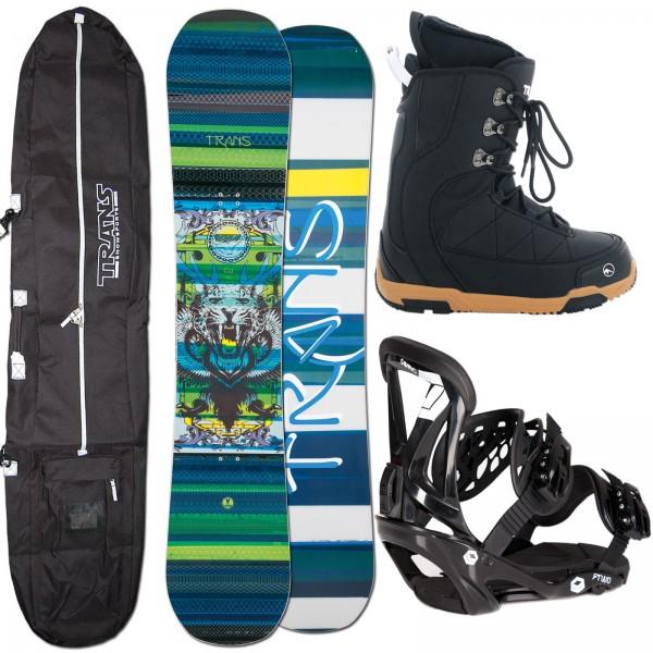 TRANS SNOWBOARD CU LION + FTWO SONIC BINDUNG + BAG + BOOTS