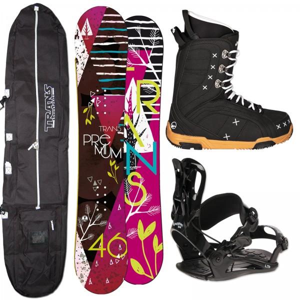 DAMEN SNOWBOARD TRANS PREMIUM + FASTEC BINDUNG + BOOTS + BAG