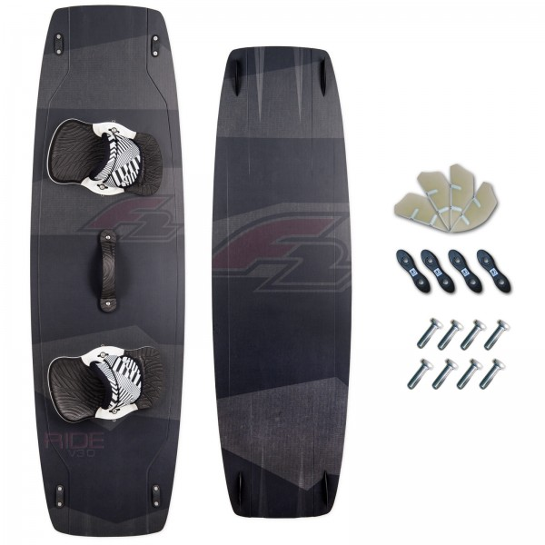 F2 CARBON KITEBOARD 2018 ~ V3.0 + F2 PADSET + FINNEN + HANDLE